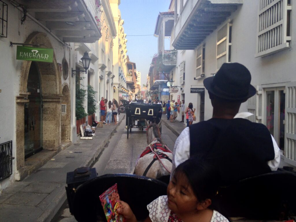 Koetsrit in Cartagena